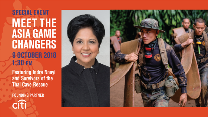 Meet the 2018 Asia Game Changers featuring Indra Nooyi and the survivors of the Thai Cave Rescue