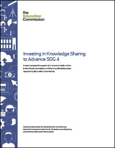 Report Cover: Investing in Knowledge Sharing to Advance SDG 4
