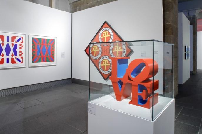 Installation view of LOVE Long: Robert Indiana and Asia. Photo: John Nye.