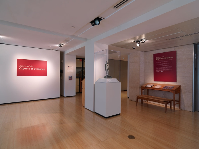 "Installation view of ""Xiaoze Xie: Objects of Evidence"" at Asia Society Museum, 2019. Photograph © Bruce M. White, 2019"