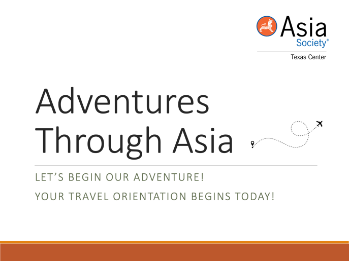 At-Home Adventures: Intro to Asia Cover Page