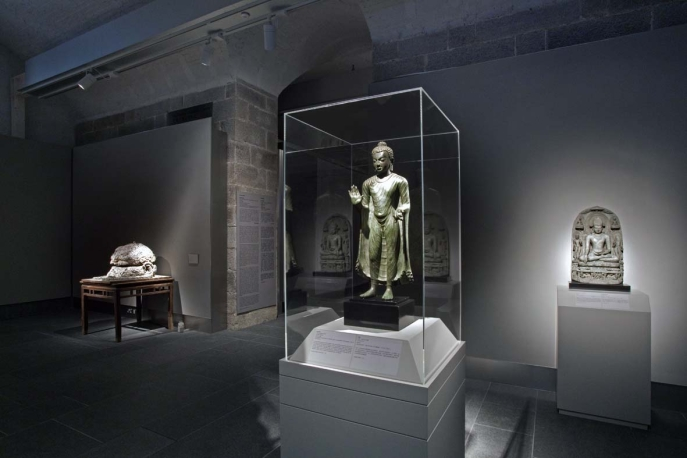 Installation view of Transforming Minds: Buddhism in Art. Photo: John Nye.