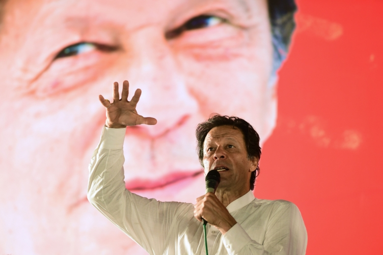 Imran Khan was elected president of Pakistan in July