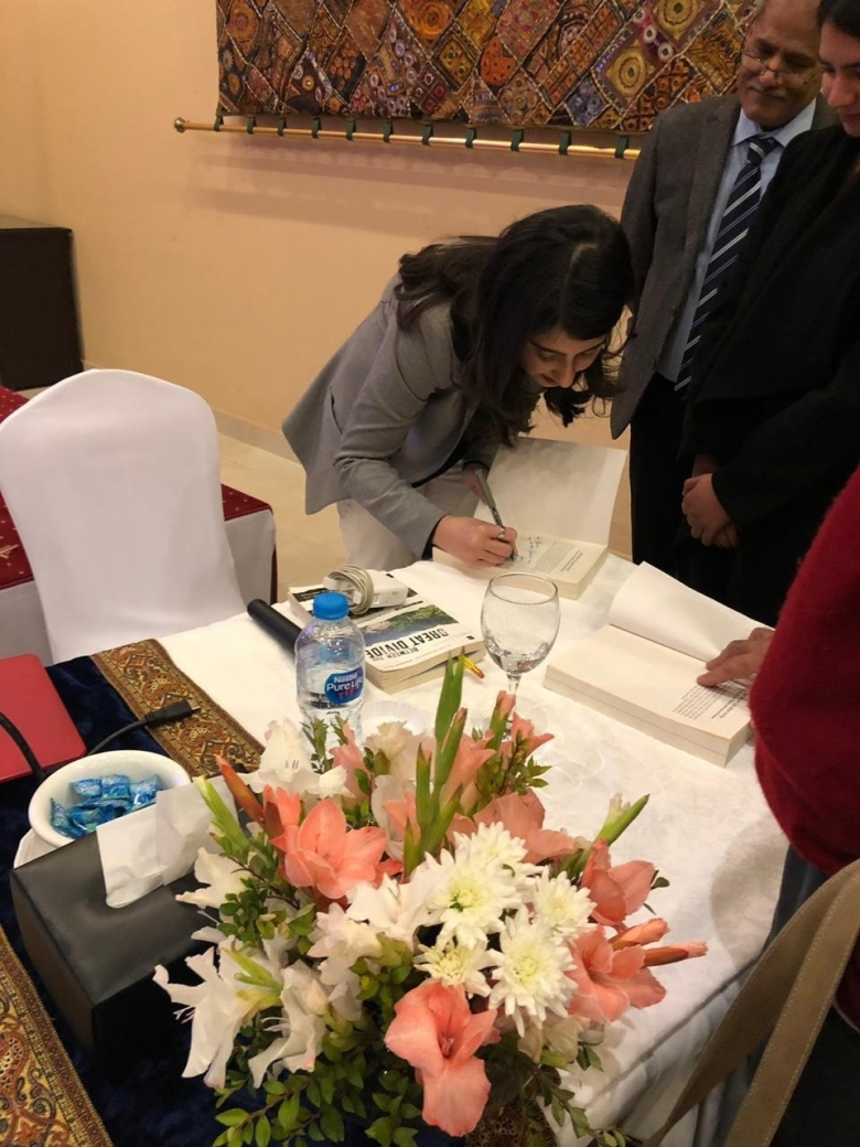 Anam Zakaria during the book signing