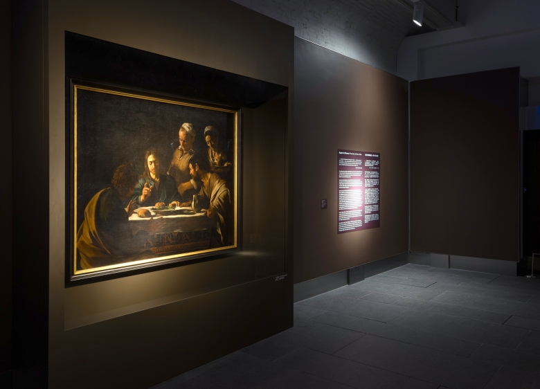 Installation view of Light and Shadows – Caravaggio•The Italian Baroque Master