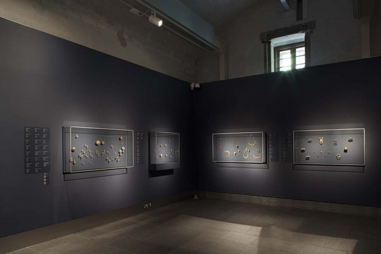 Installation view of When Gold Blossoms.