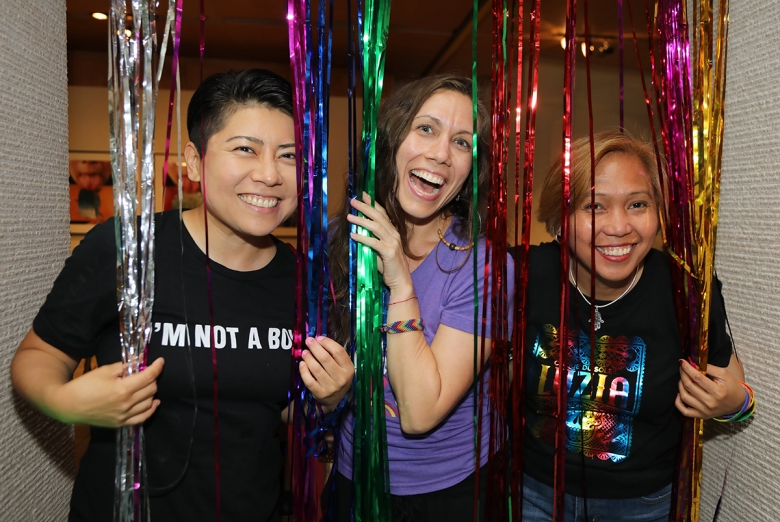 Guests at Asia Society's special Pride-themed Leo Bar