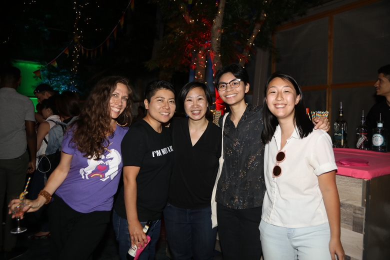 Guests at Asia Society's Pride-themed First Friday Leo Bar