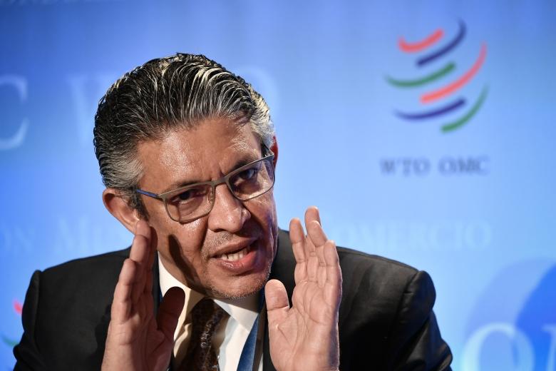 Mohammed Al Tuwaijri speaks at the WTO