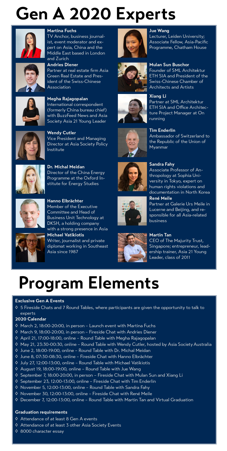 Gen A 2020 Experts and Program